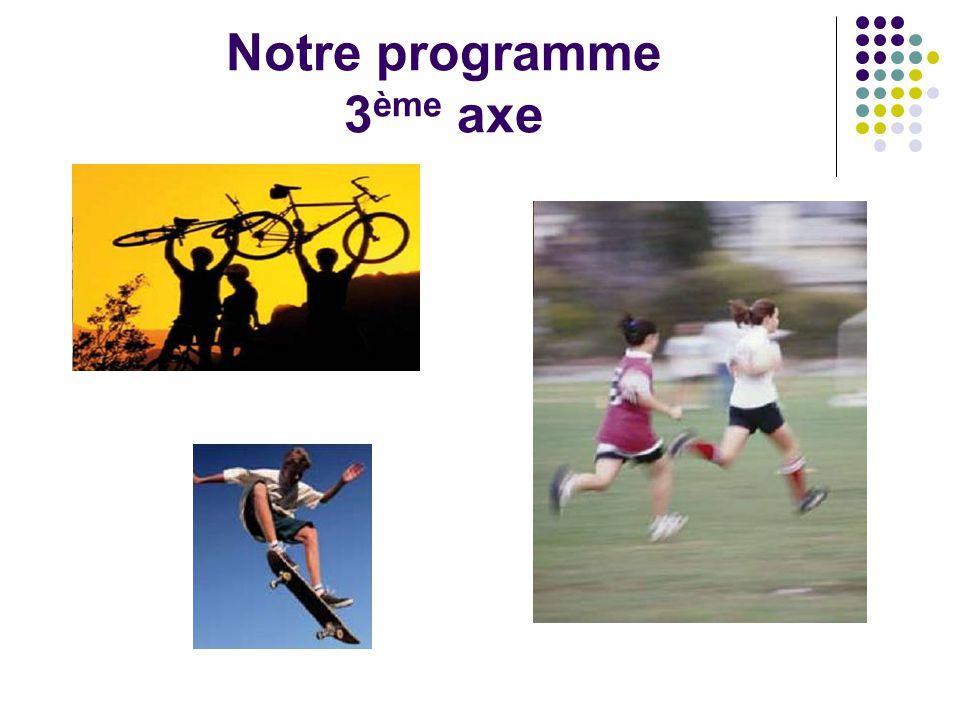 Notre programme 3 ème axe