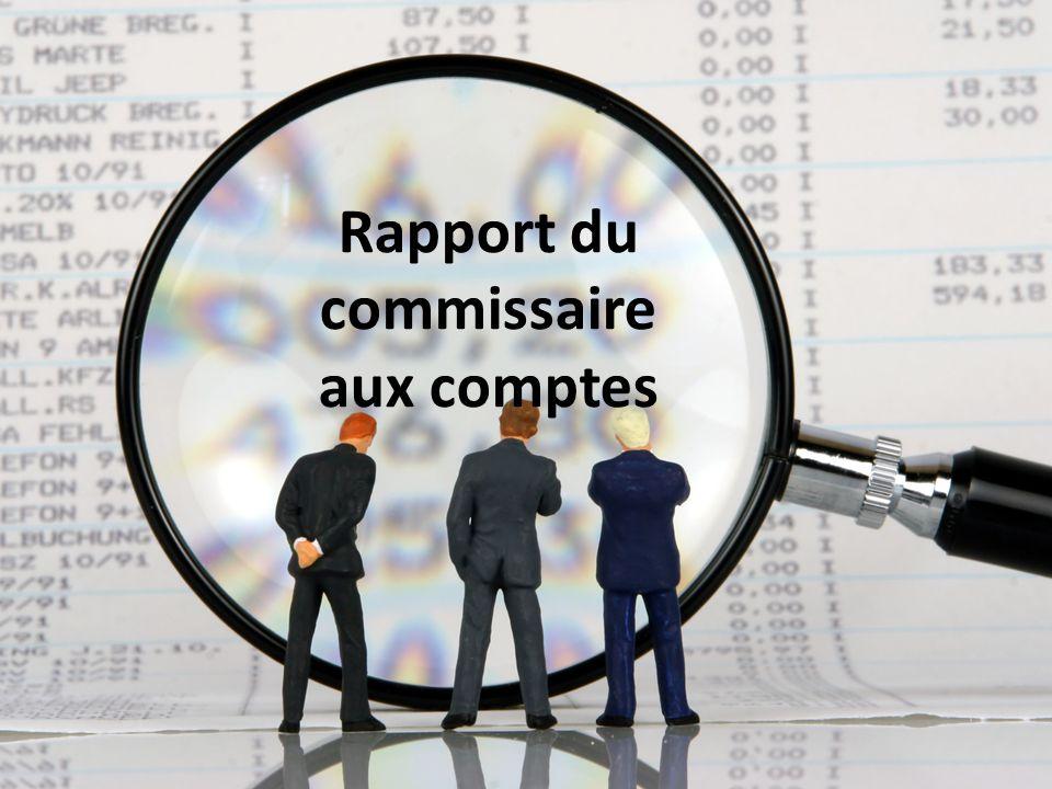 Rapport du commissaire aux comptes