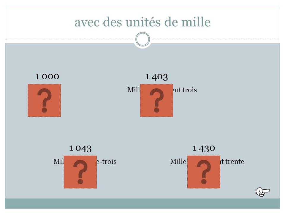 Lire les nombres avec des milliers Michèle Chauvel