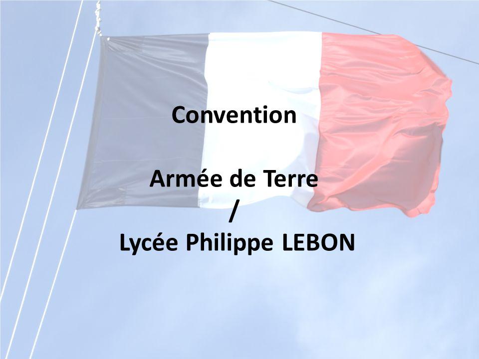 Convention Armée de Terre / Lycée Philippe LEBON