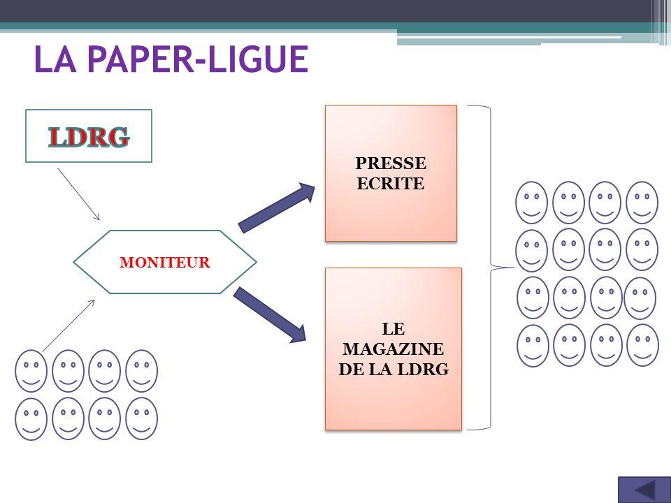 LA PAPER-LIGUE PRESSE ECRITE PRESSE ECRITE LE MAGAZINE DE LA LDRG LE MAGAZINE DE LA LDRG MONITEUR