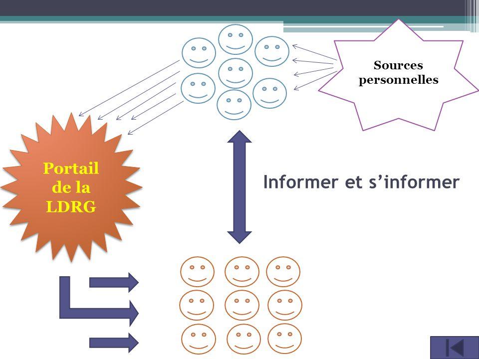 Informer et s'informer Sources personnelles Portail de la LDRG Portail de la LDRG