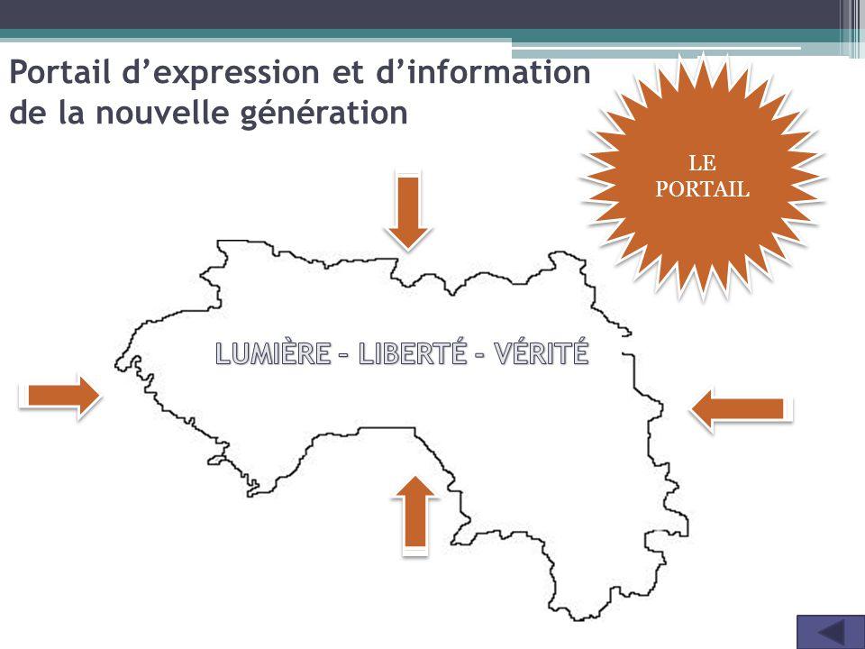 LE PORTAIL Portail d'expression et d'information de la nouvelle génération