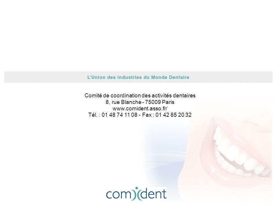 Comité de coordination des activités dentaires 8, rue Blanche - 75009 Paris www.comident.asso.fr/ Tél.
