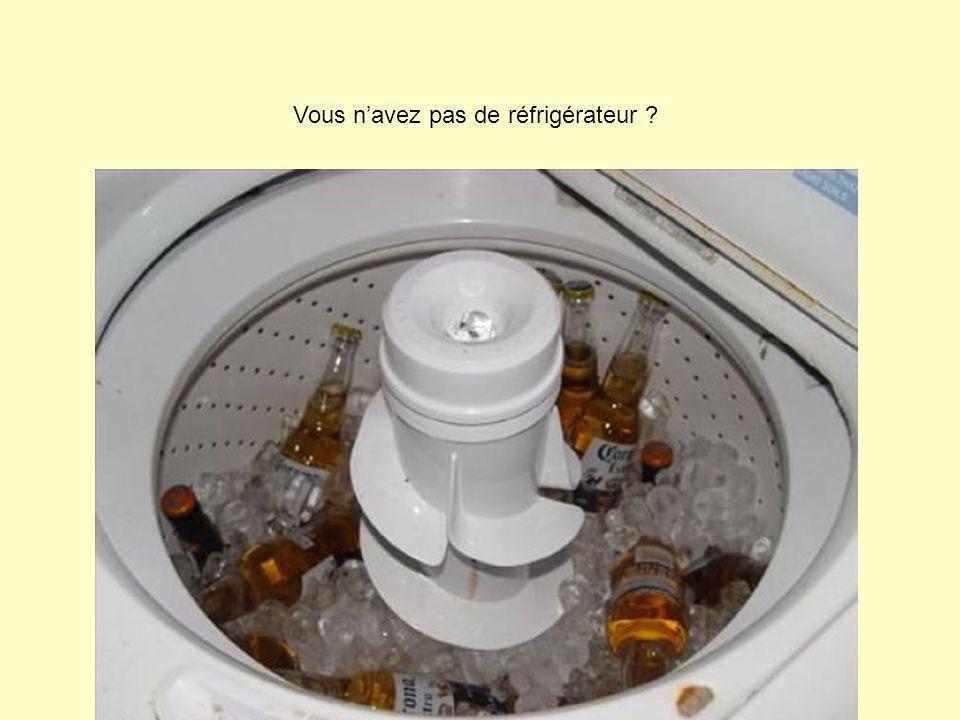 Vous n'avez pas de réfrigérateur