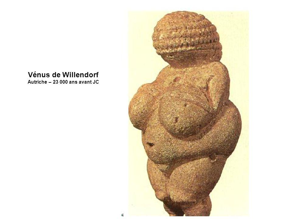 Vénus de Willendorf Autriche – 23 000 ans avant JC