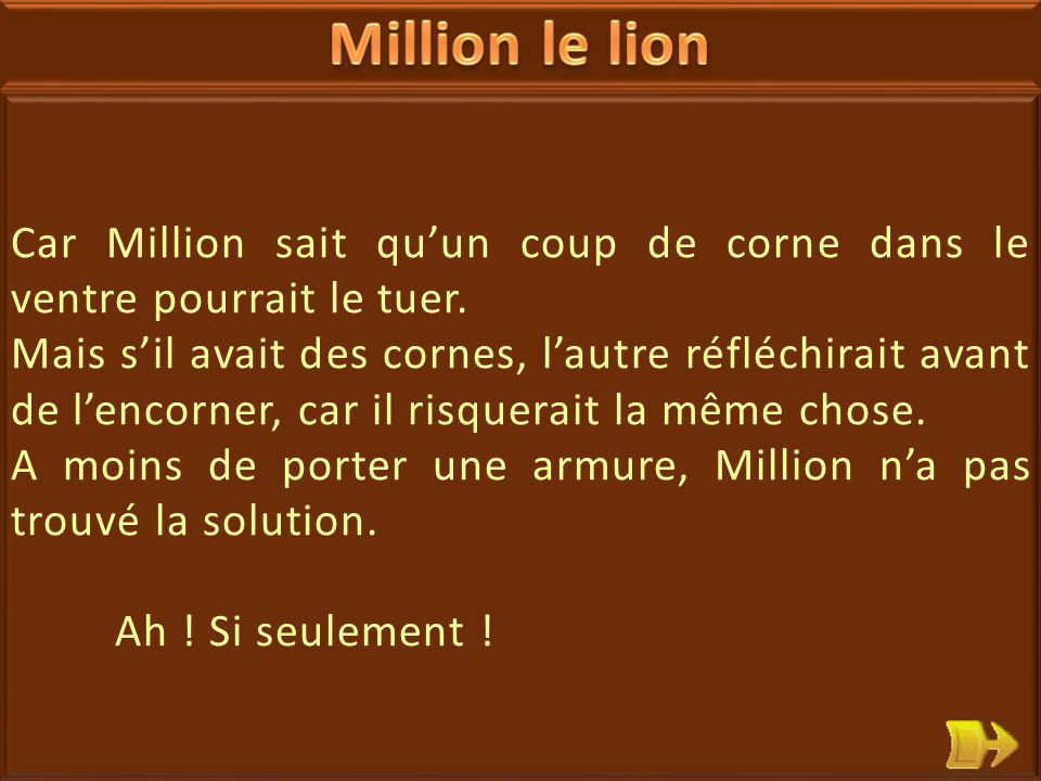 23 Million le lion est un animal très fort, un fauve carnivore.