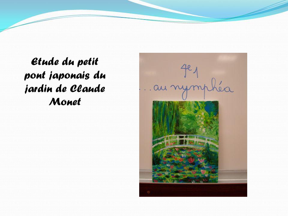 Etude du petit pont japonais du jardin de Claude Monet