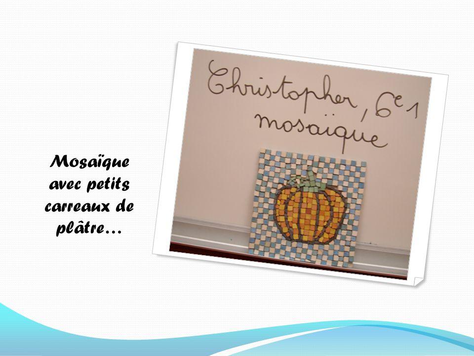 Mosaïque avec petits carreaux de plâtre…