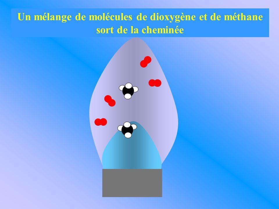 Les molécules une fois produites se dispersent dans l'air.