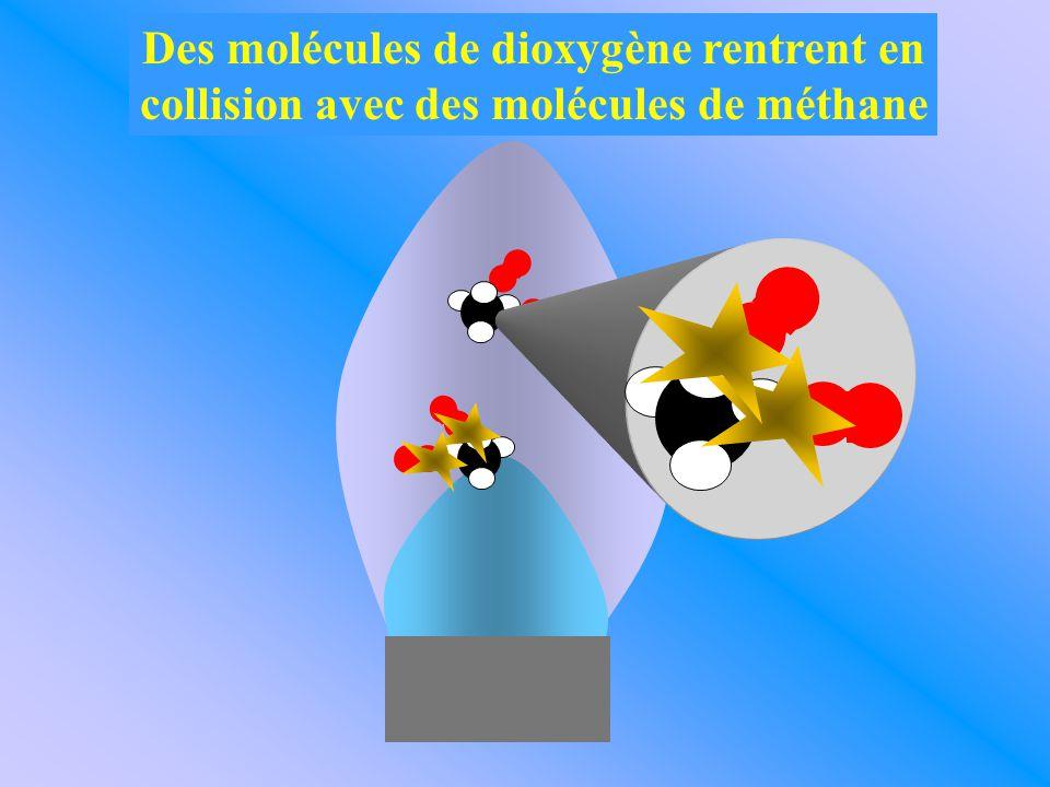 Sous l'effet de la chaleur, les molécules se cassent.