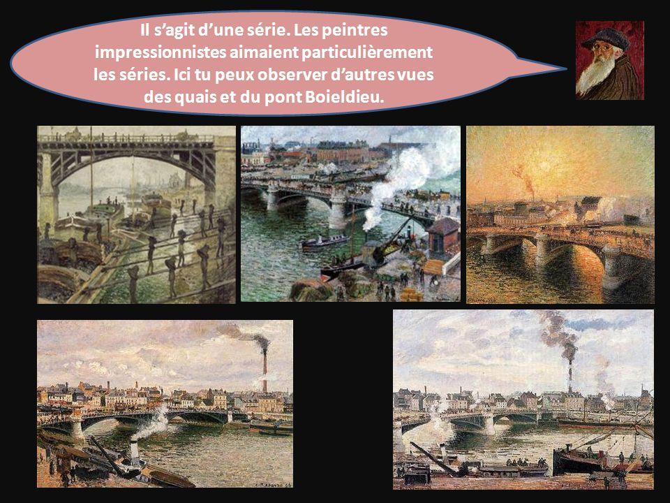 Il s'agit d'une série.Les peintres impressionnistes aimaient particulièrement les séries.