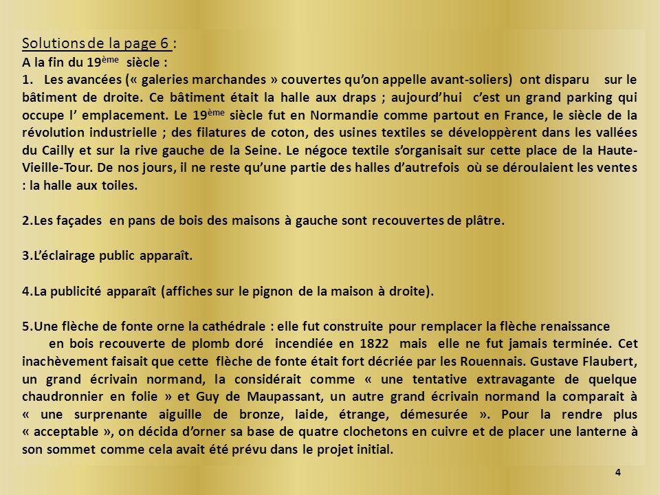 Solutions de la page 6 : A la fin du 19 ème siècle : 1.