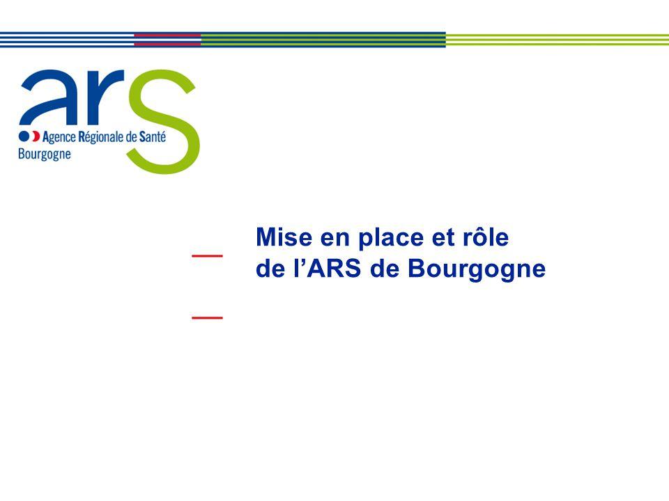 BOURGOGNE Mise en place et rôle de l'ARS de Bourgogne