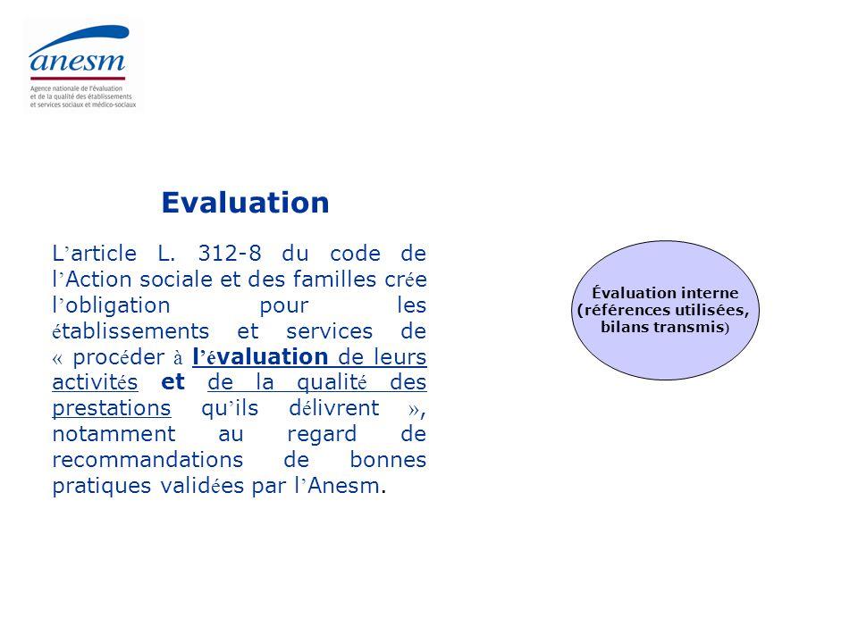  Les réalisations  Le suivi de la mise en œuvre de l'évaluation interne: 66% d'ESMS contre 26% avant 2007  La procédure conduite: 577 habilitations  La régulation du marché:  Contrôle des organismes habilités  Gestion des plaintes  Suivi de l'activité