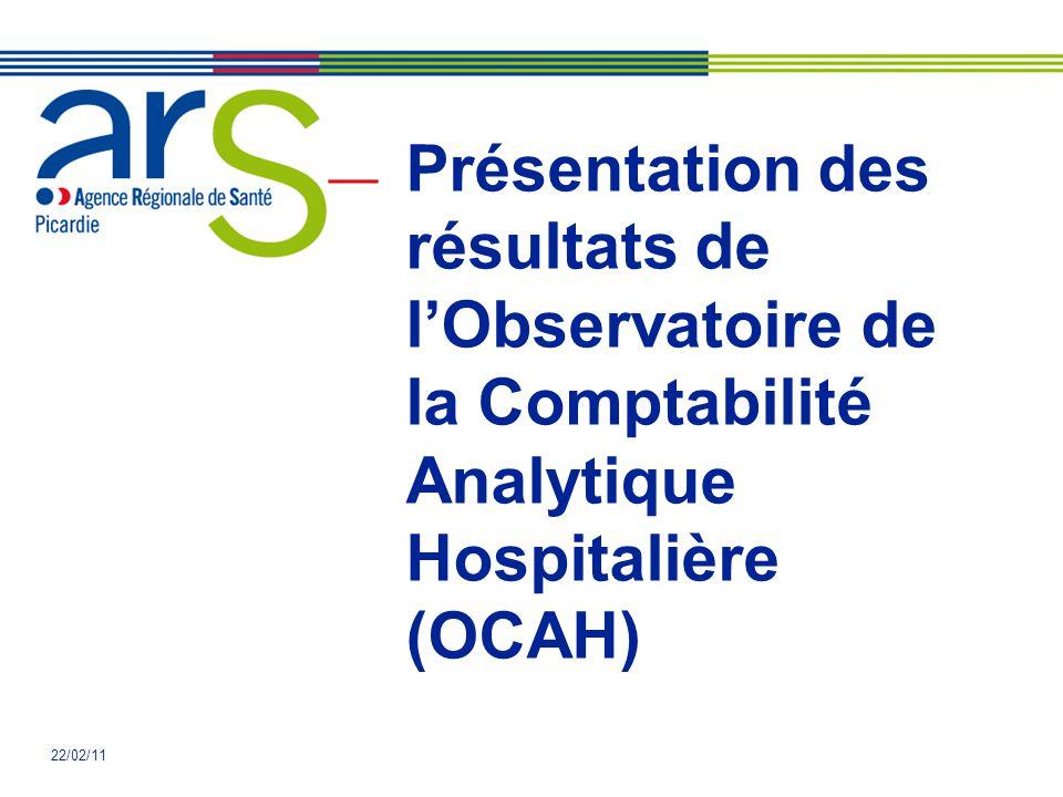 Présentation des résultats de l'Observatoire de la Comptabilité Analytique Hospitalière (OCAH) 22/02/11