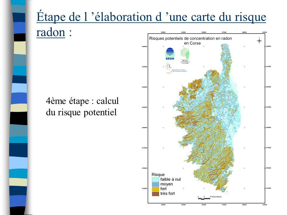 Étape de l 'élaboration d 'une carte du risque radon : 3ème étape : étude de la fracturation