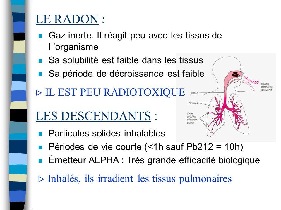 L 'ORIGINE DU RADON :