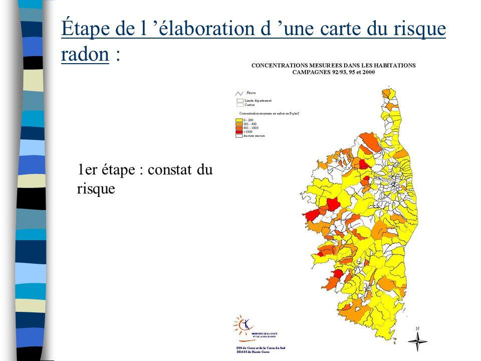 27 départements les plus exposés au radon :
