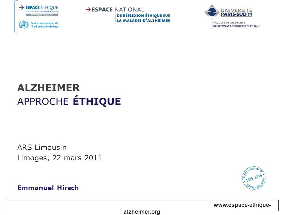I – Quelques repères II – Vulnérabilités III – Quelques aspects pratiques IV – La Charte Alzheimer Éthique & société 2010