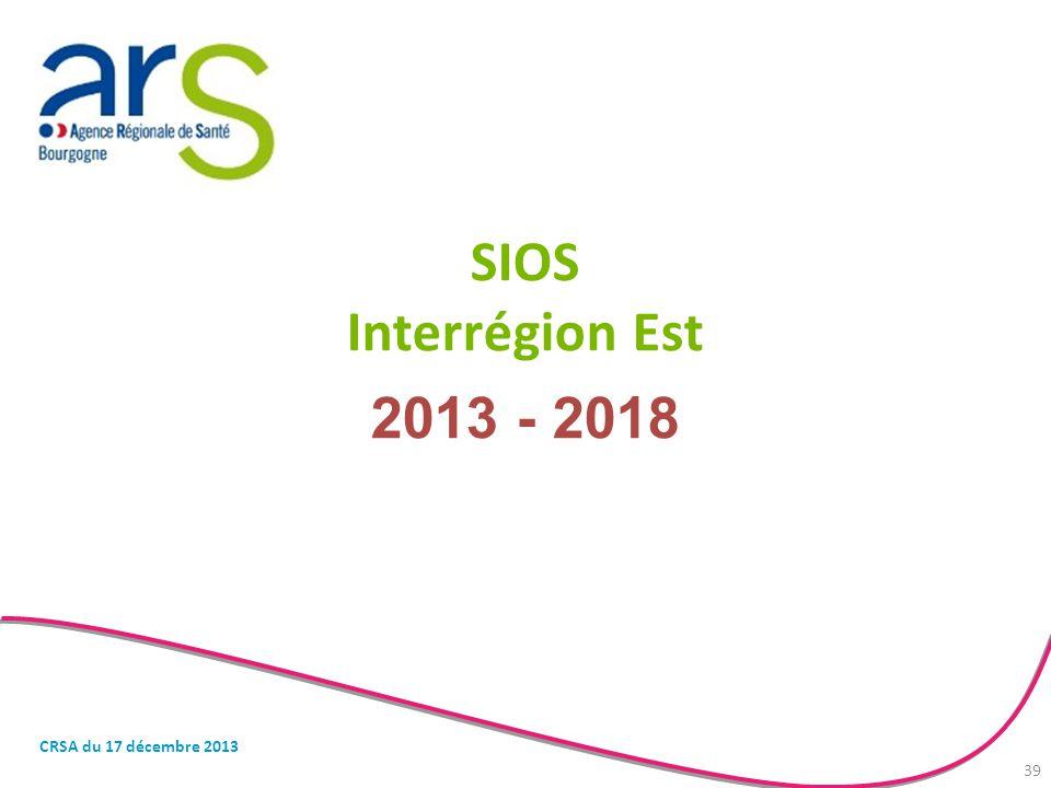 SIOS Interrégion Est 2013 - 2018 CRSA du 17 décembre 2013 39