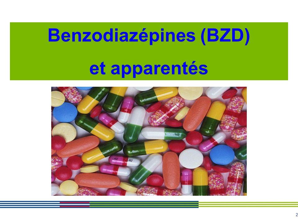 2 Benzodiazépines (BZD) et apparentés