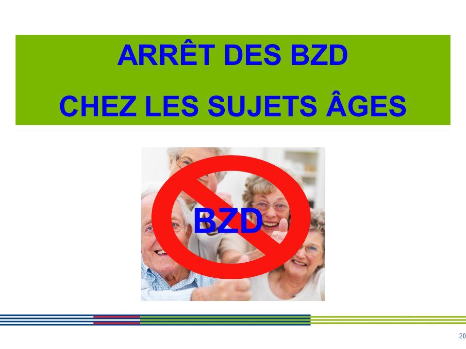 20 ARRÊT DES BZD CHEZ LES SUJETS ÂGES BZD