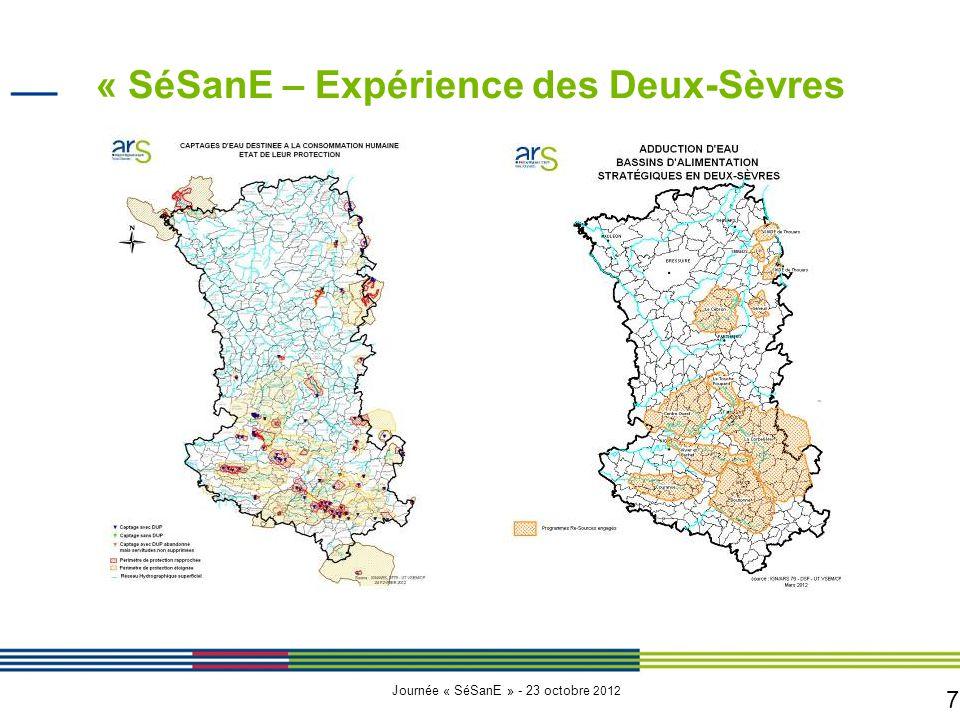 7 Journée « SéSanE » - 23 octobre 2012 « SéSanE – Expérience des Deux-Sèvres