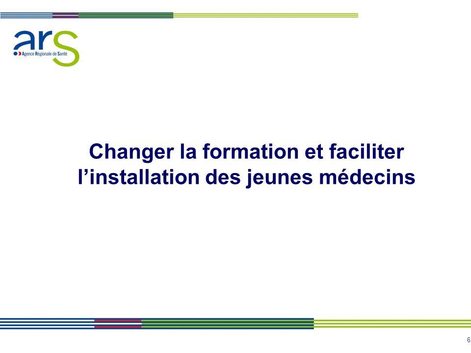 6 Changer la formation et faciliter l'installation des jeunes médecins