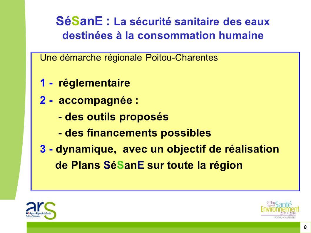 8 Une démarche régionale Poitou-Charentes 1 - réglementaire 2 - accompagnée : - des outils proposés - des financements possibles 3 - dynamique, avec u