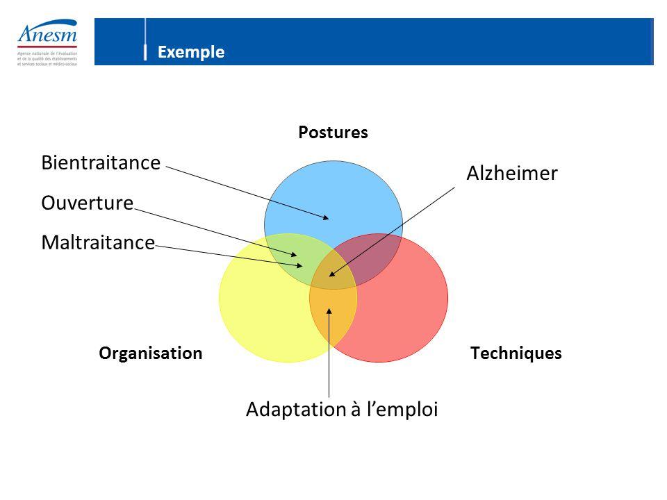 Postures TechniquesOrganisation Bientraitance Ouverture Maltraitance Adaptation à l'emploi Alzheimer Exemple