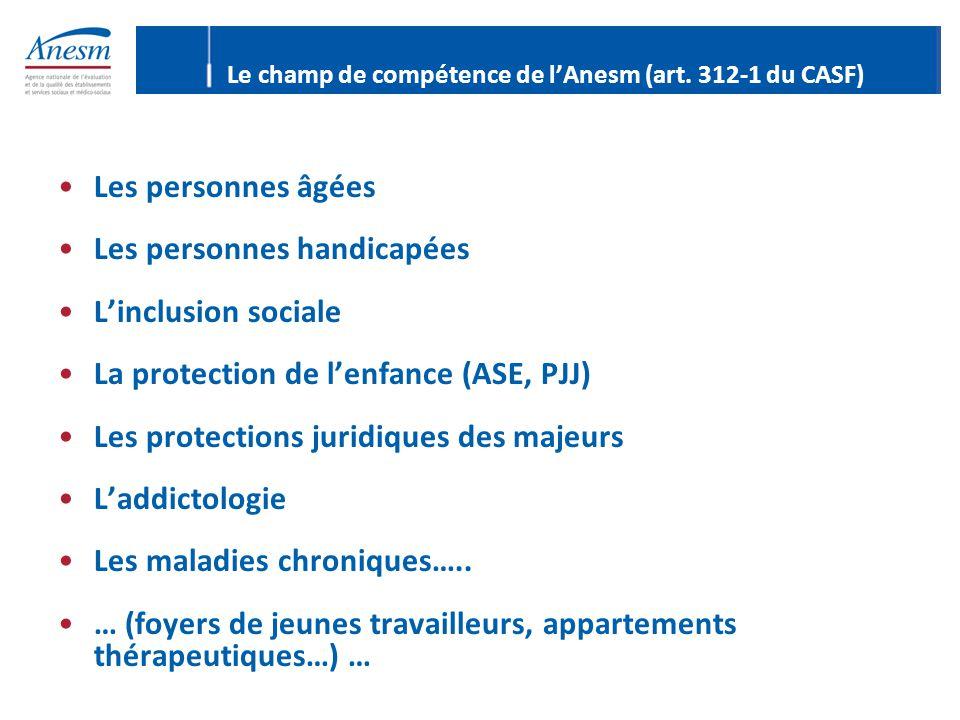 Les personnes âgées Les personnes handicapées L'inclusion sociale La protection de l'enfance (ASE, PJJ) Les protections juridiques des majeurs L'addic