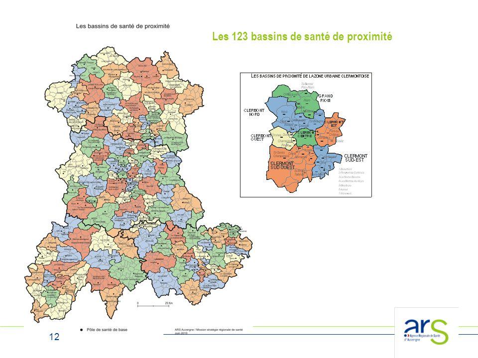 12 Les 123 bassins de santé de proximité
