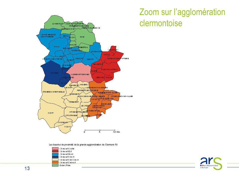 13 Zoom sur l'agglomération clermontoise