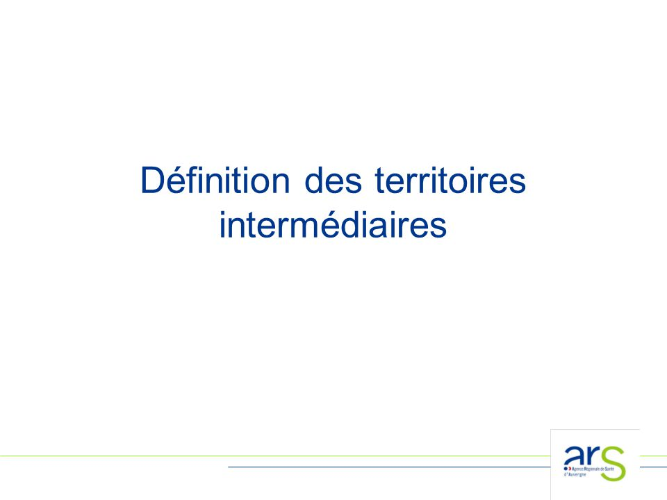18 Définition des territoires intermédiaires