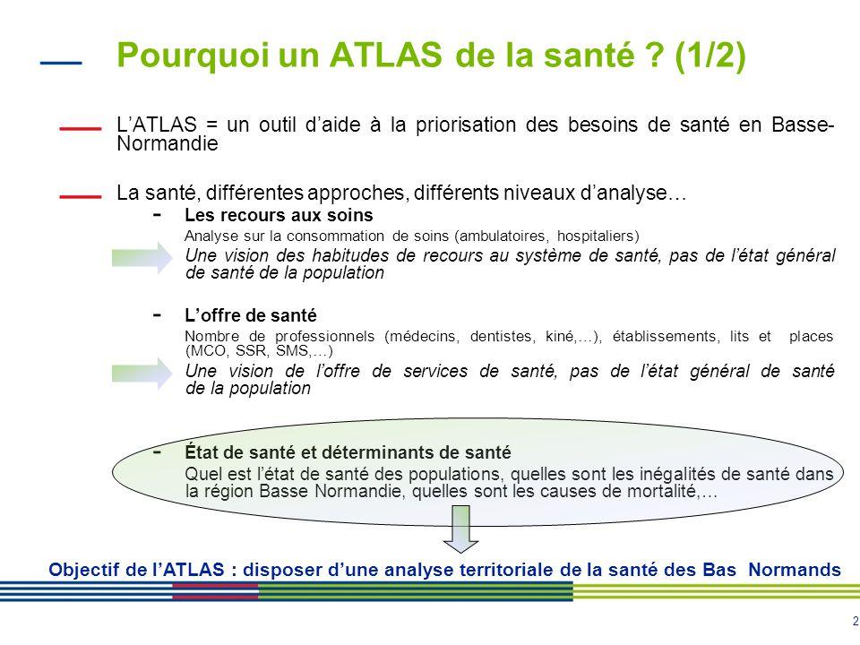 2 Pourquoi un ATLAS de la santé .