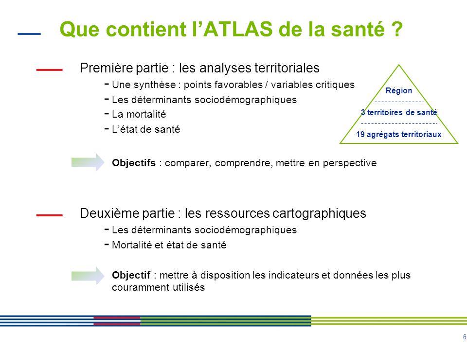 6 Que contient l'ATLAS de la santé .