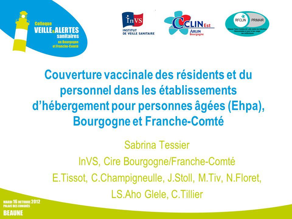 Couverture vaccinale des résidents et du personnel dans les établissements d'hébergement pour personnes âgées (Ehpa), Bourgogne et Franche-Comté Sabri
