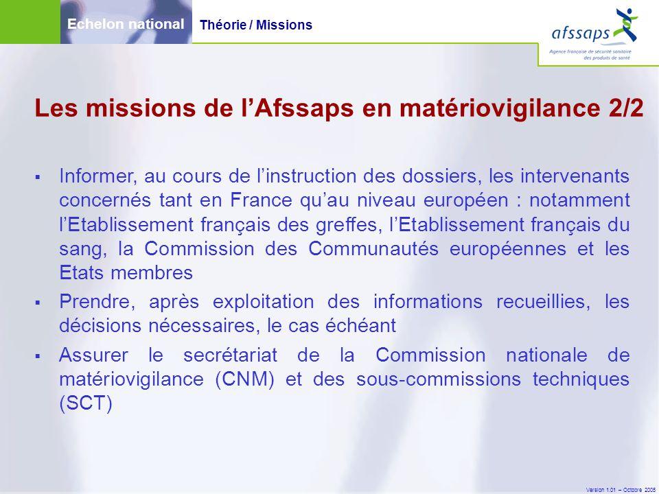 Version 1.01 – Octobre 2005  Ces incidents nécessitent, de la part du fabricant, une investigation, avec ou sans expertise du dispositif par lui-même ou par un tiers indépendant.