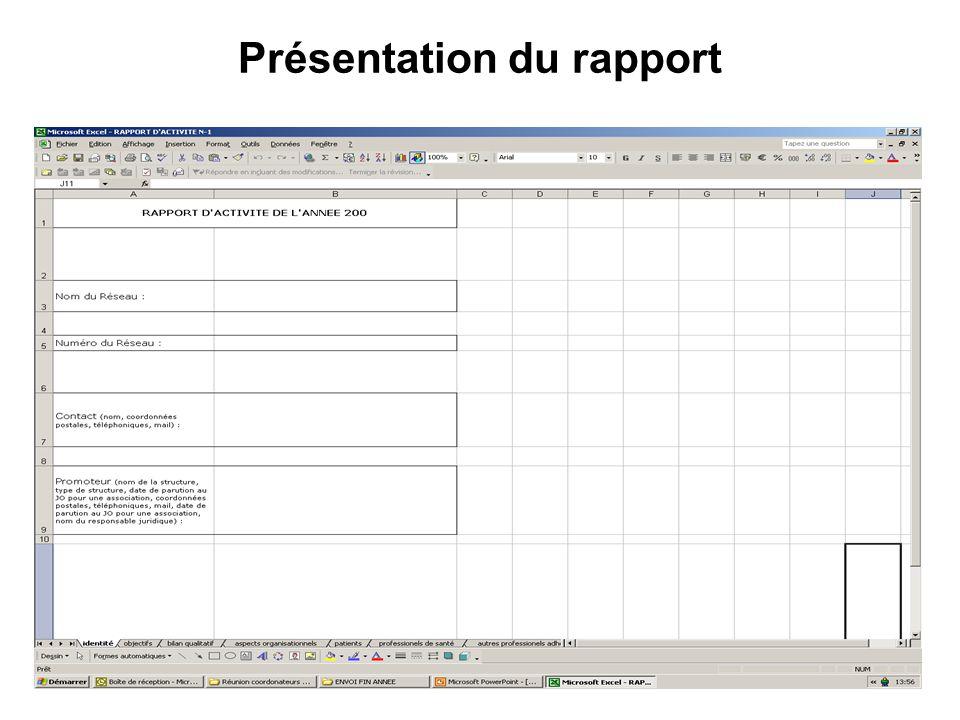 Présentation du rapport