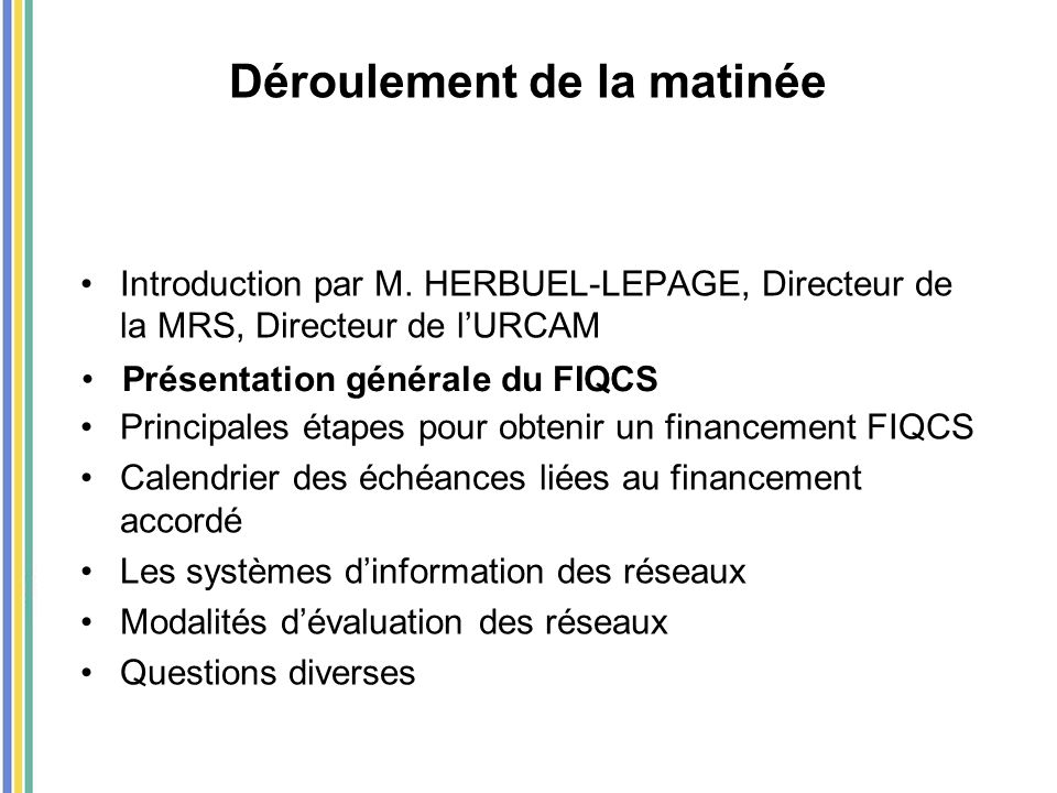 Fonds d'Intervention pour la Qualité et la Coordination des Soins (FIQCS) Fusion du FAQSV et de la DNDR LFSS pour 2007 et décret du 15 mai 2007 Mise en place au 1er juillet 2007