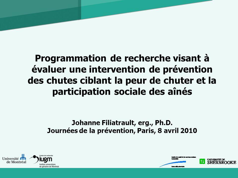 2008-2009 Chercheurs québécois se sont intéressés au programme Permission de traduire en français et d'adapter le programme Demande de fonds (FRSQ)