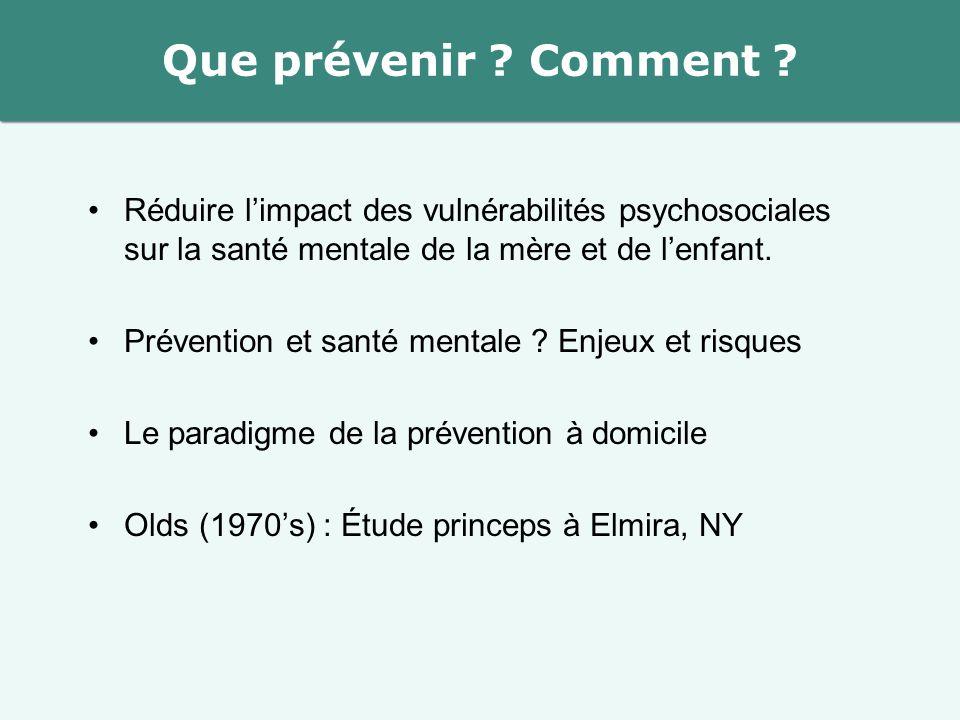 Réduire l'impact des vulnérabilités psychosociales sur la santé mentale de la mère et de l'enfant. Prévention et santé mentale ? Enjeux et risques Le