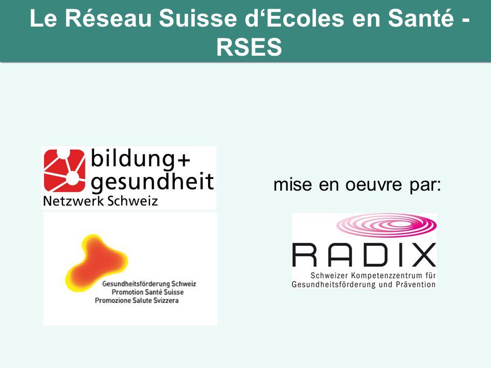 Le Réseau Suisse d'Ecoles en Santé - RSES mise en oeuvre par: