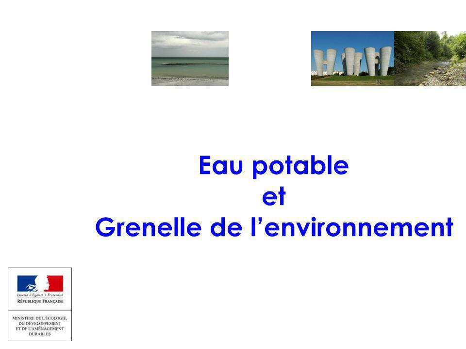 EAU ET MILIEUX AQUATIQUES 17 sept 2009 Colloque captages et phytos Eau potable et Grenelle de l'environnement