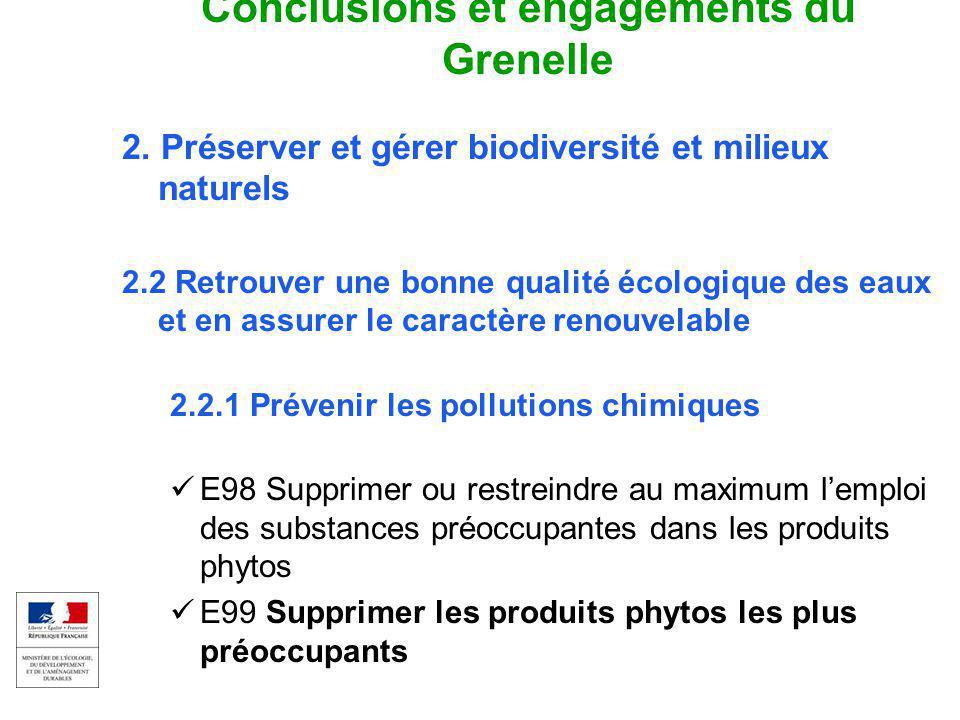 EAU ET MILIEUX AQUATIQUES 3 Colloque captages et phytos 17 sept 2009 Conclusions et engagements du Grenelle 2. Préserver et gérer biodiversité et mili