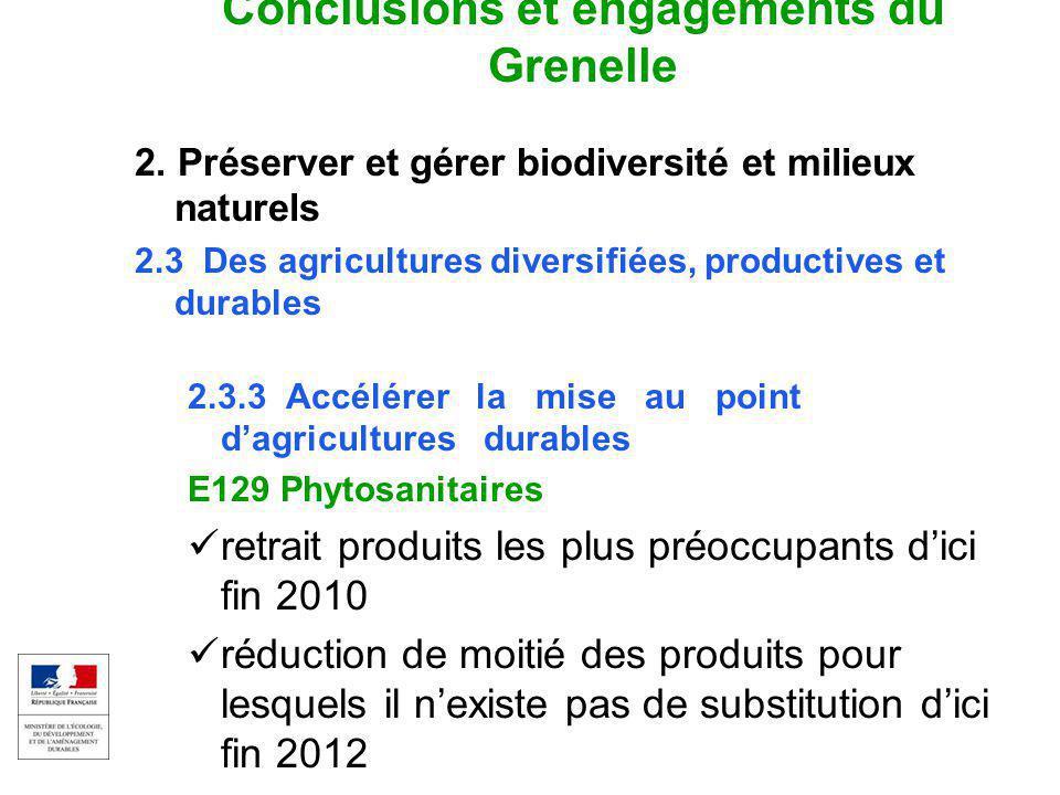 EAU ET MILIEUX AQUATIQUES 5 Colloque captages et phytos 17 sept 2009 Conclusions et engagements du Grenelle 2.