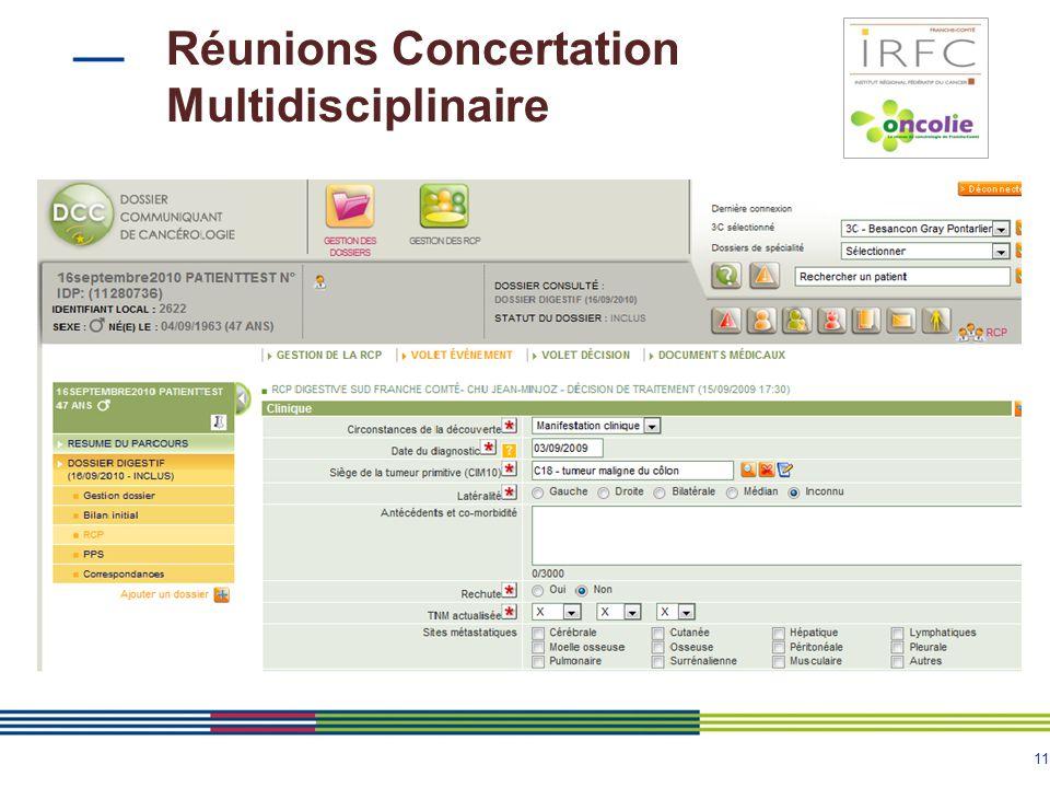 11 Réunions Concertation Multidisciplinaire