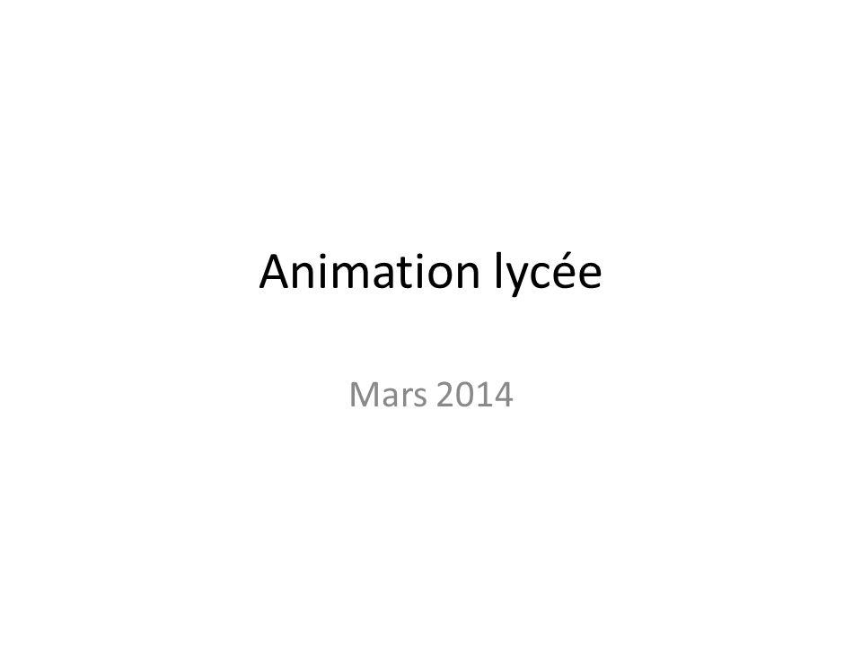 Animation lycée Mars 2014
