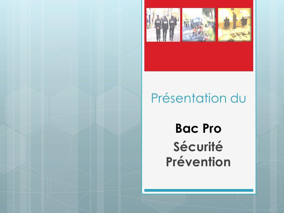 Présentation du Bac Pro Sécurité Prévention